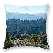 Mountain Range, White Mountains Throw Pillow