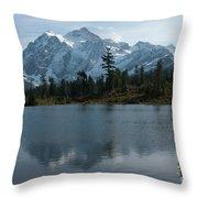 Mountain Reflection Throw Pillow