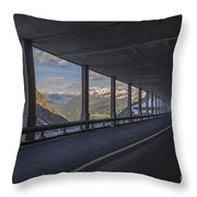 Mountain Road And Tunnel Throw Pillow
