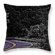 Mountain Road Throw Pillow