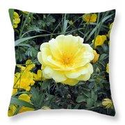 Mountain Rose Throw Pillow