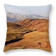 Mountain Scenary Near Zanjan In Iran Throw Pillow