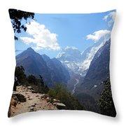 Mountain Scene  Throw Pillow