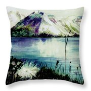 Mountain Serenity Throw Pillow