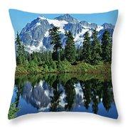 Mountain Springtime Throw Pillow
