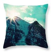 Mountain Starburst Throw Pillow