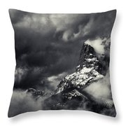 Mountain Storm Banff Throw Pillow