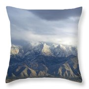 Mountain Storm Throw Pillow