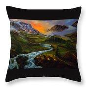 Mountain Streams Throw Pillow