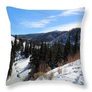 Mountain Sun Throw Pillow