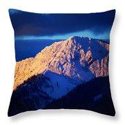 Lizard Range Mountain Sunrise Throw Pillow