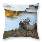Mountain Sunrise Echoes Throw Pillow