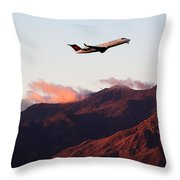 Mountain Takeoff Throw Pillow