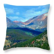 Mountain Top Color Throw Pillow