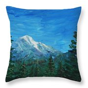 Mountain View Throw Pillow by Anastasiya Malakhova