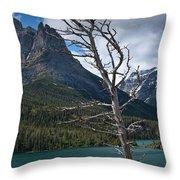 Mountain View At Glacier National Park Throw Pillow