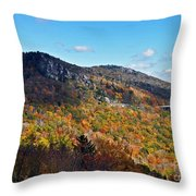 Mountain View From Linn Cove Viaduct Throw Pillow
