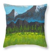 Mountain Vista Throw Pillow