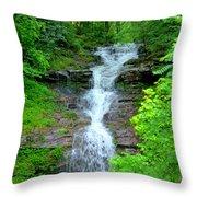 Mountain Waterfall I Throw Pillow