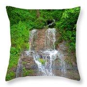 Mountain Waterfall II Throw Pillow