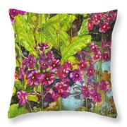 Mountain Wild Flowers Throw Pillow