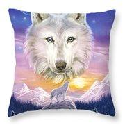 Mountain Wolf Throw Pillow