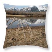 Aboriginal Sacred Sweat Lodge - Waterton Lakes Nat. Park, Alberta Throw Pillow