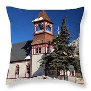 Mountain Worship Throw Pillow