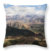 Mountains Along N9, Al Haouz Throw Pillow