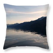 Mountains At Sunset Throw Pillow