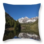 Mountains Co Maroon Bells 12 Throw Pillow