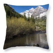 Mountains Co Maroon Bells 14 Throw Pillow