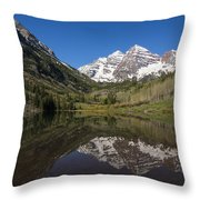 Mountains Co Maroon Bells 16 Throw Pillow