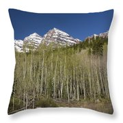Mountains Co Maroon Bells 23 Throw Pillow