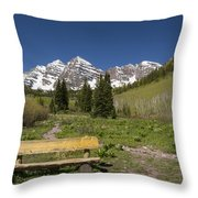 Mountains Co Maroon Bells 24 Throw Pillow