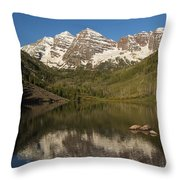 Mountains Co Maroon Bells 7 Throw Pillow