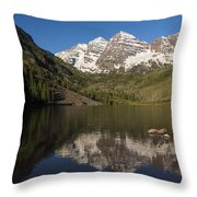 Mountains Co Maroon Bells 8 Throw Pillow