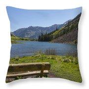 Mountains Co Maroon Lake 3 Throw Pillow