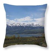Mountains Co Mt Elbert 1 Throw Pillow