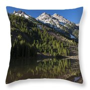 Mountains Co Pyramid 2 Throw Pillow