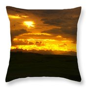 Mountains In The Distance  Throw Pillow