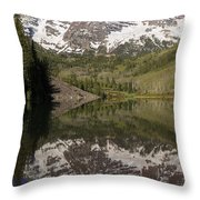 Mountains Maroon Bells 11 Throw Pillow