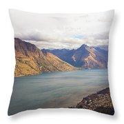 Mountains Meet Lake #5 Throw Pillow