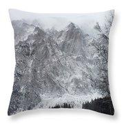 Mountains Of Austria Throw Pillow