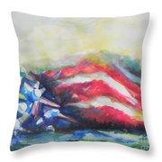 Mountains Of Freedom Throw Pillow