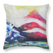 Mountains Of Freedom Two Throw Pillow