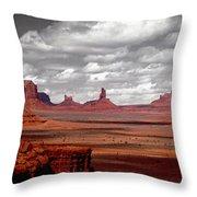 Mountains, West Coast, Monument Valley Throw Pillow