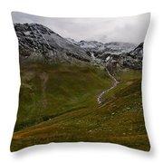 Mountainscape With Snow Throw Pillow