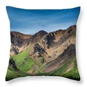 Mountainside Foliage Throw Pillow