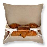 Mounted Elk Antlers Throw Pillow